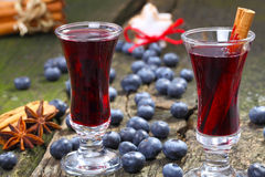 Blueberry mulled wine Stock Photo