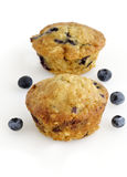 Blueberry oatmeal muffins Stock Photo
