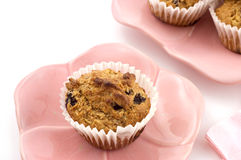 Blueberry oatmeal muffins Royalty Free Stock Image