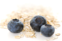 Blueberry oats Stock Photo