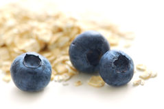 Blueberry oats royalty free stock photos
