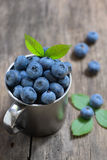 Blueberry on old wood Stock Images