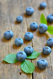 Blueberry on old wood Stock Photos