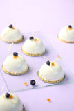 Blueberry and Orange Mousse Cakes Royalty Free Stock Photography