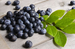 Blueberry. Over wooden background. Health and diet concept. Copy space Royalty Free Stock Images