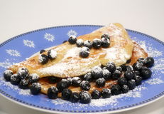 Blueberry pancake Royalty Free Stock Photography
