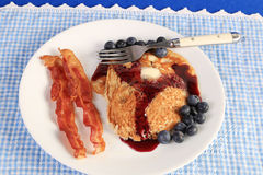 Blueberry Pancake Breakfast Royalty Free Stock Image