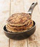 Blueberry Pancake Closeup Stock Photos