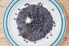 Blueberry pancake Stock Photos