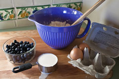 Blueberry Pancake mix royalty free stock image