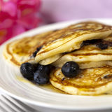 Blueberry Pancakes Stock Photo