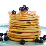 Blueberry pancakes Stock Photography