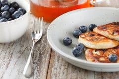 Blueberry pancakes Royalty Free Stock Photos