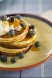 Blueberry pancakes Royalty Free Stock Image
