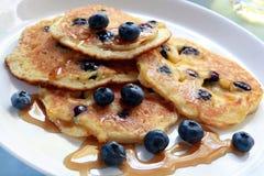 Blueberry Pancakes Stock Photography
