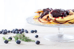 Blueberry Pancakes Dessert Stock Image