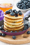 Blueberry pancakes Stock Photos