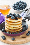 Blueberry pancakes Royalty Free Stock Image