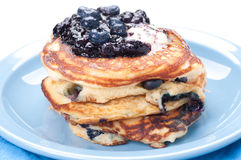Blueberry pancakes Royalty Free Stock Images