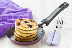 Blueberry pancakes Royalty Free Stock Photography