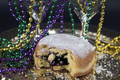 Blueberry with party beads Stock Image