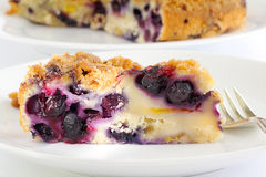 Blueberry peach cake Royalty Free Stock Photos