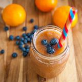 Blueberry and Peach Smoothy Royalty Free Stock Photo