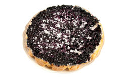 Blueberry pie. On a white background Royalty Free Stock Images