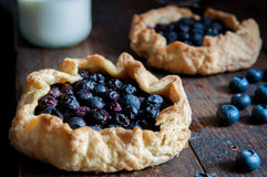 Blueberry pie. Some delicious handmade blueberry pie Stock Photography