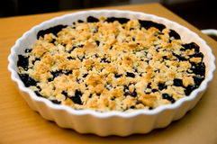 Blueberry pie Stock Image