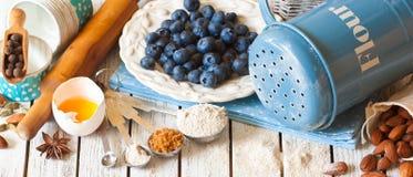 Blueberry pie. Royalty Free Stock Photos