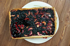 Blueberry pie Stock Image