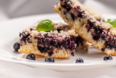 Blueberry pie Stock Images