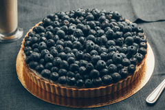 Blueberry Pie. Closeup of a beautiful blueberry pie royalty free stock image