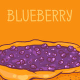 Blueberry pie. Colorful  illustration of tasty blueberry pie Royalty Free Stock Photos