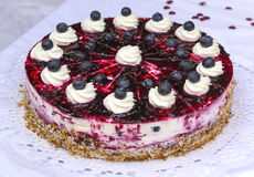 Blueberry pie, a delicious cake Stock Images