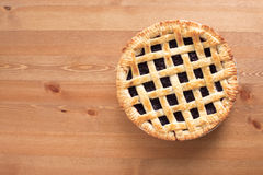Blueberry Pie_2013-2. Blueberry Pie on a desk Royalty Free Stock Photos