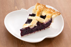 Blueberry Pie_2013-3. Blueberry Pie on a desk Stock Photo
