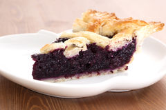 Blueberry Pie_2013-4. Blueberry Pie on a desk Stock Photography