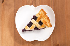 Blueberry Pie_2013-6. Blueberry Pie on a desk Royalty Free Stock Photo