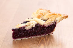 Blueberry Pie_2013-5. Blueberry Pie on a desk Royalty Free Stock Photography