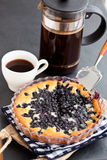 Blueberry pie and coffee Royalty Free Stock Photos