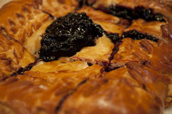 Blueberry pie. Home-made cake with fresh blueberries Stock Photo