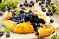 Blueberry pie. Royalty Free Stock Images