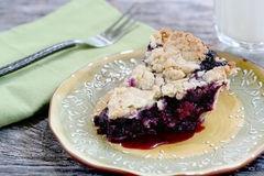 Blueberry Pie piece Royalty Free Stock Image