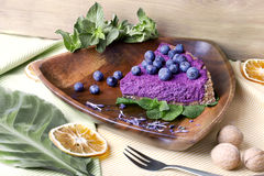 Blueberry pie, raw food Stock Photos