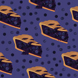 Blueberry pie seamless pattern Royalty Free Stock Images