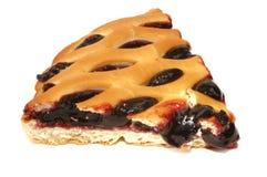 BLUEBERRY PIE  SLICE. Freshly baked blackberry cake, isolated on white background Stock Image