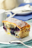 Blueberry pie slice Royalty Free Stock Image