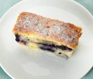 Blueberry pie slice Stock Photos